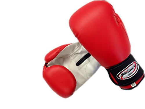 (Woldorf USA Boxing Bag Gloves in Vinyl 10oz RED)