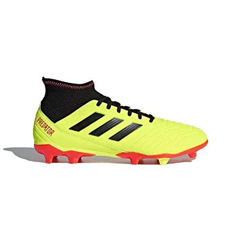 adidas Men's Predator 18.3 FG Soccer Shoe, Yellow/Black/Solar red, 10 M US