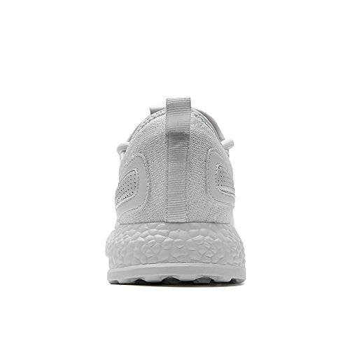 TIOSEBON Leichte Herren Casual Turnschuhe Atmungsaktive Athletische Laufschuhe 6518 Weiß