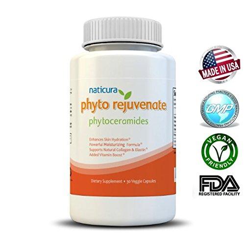 Naticura Phytoceramides 350mg hydratant naturel Vegan Friendly & sans OGM Made in USA médecin recommandé Skin Care & Phyto enlèvement rides rajeunir Super antioxydant
