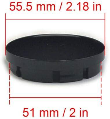 4Pcs BBS Center Caps Wheel Centre Hub Alloy Cap Set 56mm Black Gold