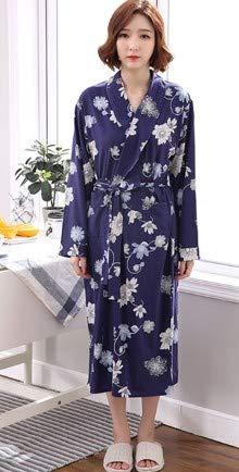 Flor Túnica Baño Ropa Pijamas Albornoces De En V Gran Algodón Larga Tamaño Mujer Ysfu Escote Para Abrigo Manga Albornoz Dormir HFXwW8q