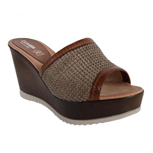 Zapatos de cuña de Mujer CUMBIA 30157 TAUPE