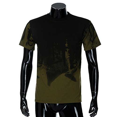 Club Night Muscle Shirt Hommes Blouse Bar Verte Moika Top Solide Slim Outwear Courtes Boy Armee Tunique Fit Manches Kimono Maille Sweat Tee AqTwU