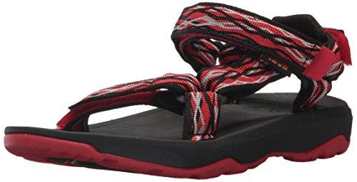 Teva Boys' K Hurricane XLT 2 Sport Sandal, Delmar Black/Red, 13 M US Little Kid ()
