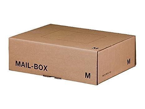Smartbox Ref 141312162 - Caja de cartón para envíos (20 unidades, 325 x 240 x 105 mm), color marrón: Amazon.es: Oficina y papelería