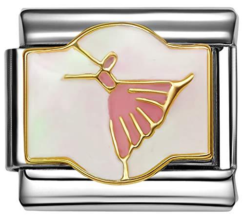 Stylysh Charms Ballet Ballerina Enamel Italian 9mm Link MD051