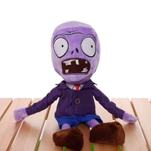 (Plants Vs Zombies 2 PVZ Figures Plush Baby Staff Toy Stuffed Soft Doll (Purple Zombie))