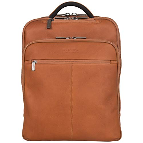 Reaction Kenneth Cole Slim Tech Laptop Backpack in Columbian Leather ()