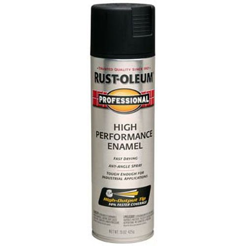 Rust-Oleum 239107 Professional High Performance Enamel Spray Paint, 15 oz, Semi-Gloss Black