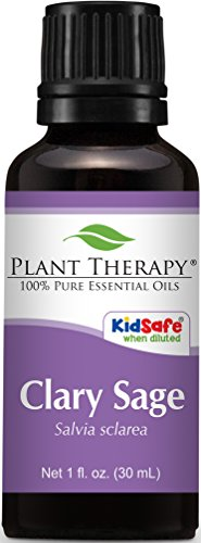 Plant Therapy Clary Sage Essential Oil. 100% Pure, Undiluted, Therapeutic Grade. 30 mL (1 (Vanilla Sage)