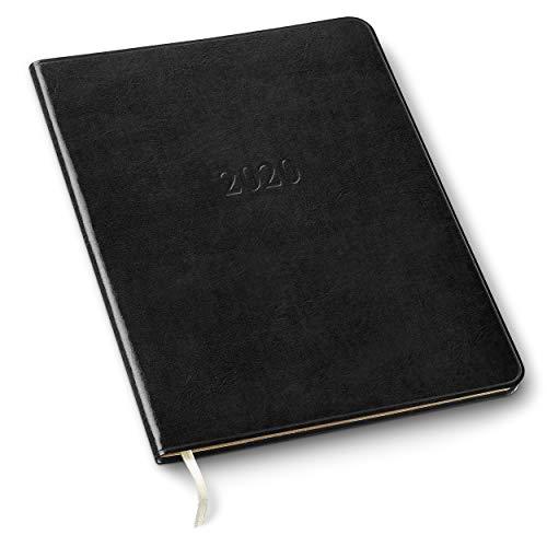 2020 Gallery Leather Large Weekly Planner Acadia Black 9.75