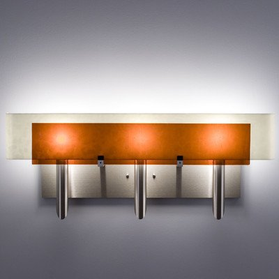 WPT DES3FW-AM, Dessy Blown Glass Wall Sconce Lighting, 3 Light, 180 Total Watts Halogen, Steel by WPT