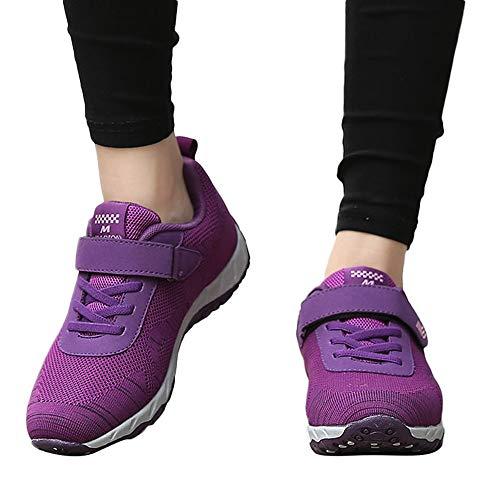 Oliviavan Women's Leisure Mesh Sport Shoes,Ladies Breathable Non-Slip Flat Light Sneaker -