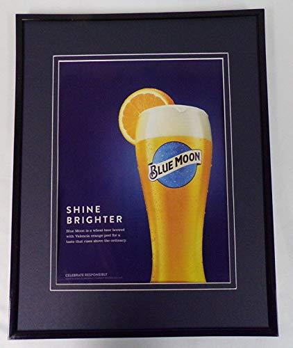 2018 Blue Moon Wheat Beer Framed 11x14 ORIGINAL Advertisement