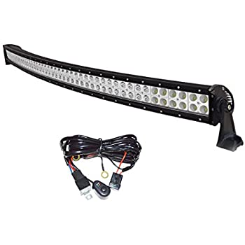 Amazon easynew 42 inch 240w curved led light bar for 4wd suv easynew 42 inch 240w curved led light bar for 4wd suv ute offroad truck atv mozeypictures Gallery