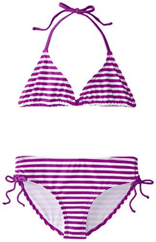 Kanu Surf Big Girls' Alexa Beach Sport 2-Piece Bikini Swimsuit, Bali Purple Stripe, 14