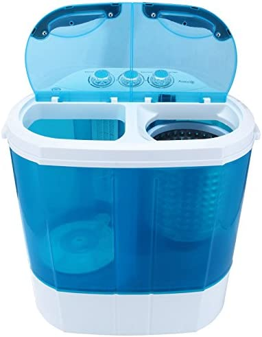 9LB Top Load Portable Mini Electric Washing Machine w/ Spin Wash And Spin Dry | Can Wash Laundry RV Mobile Home College Dorm Student Washer