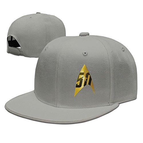 Star Trek 50th Anniversary Delta Shield Caps&Hats Mens Adjustable Starter Snapbacks Visor Ash
