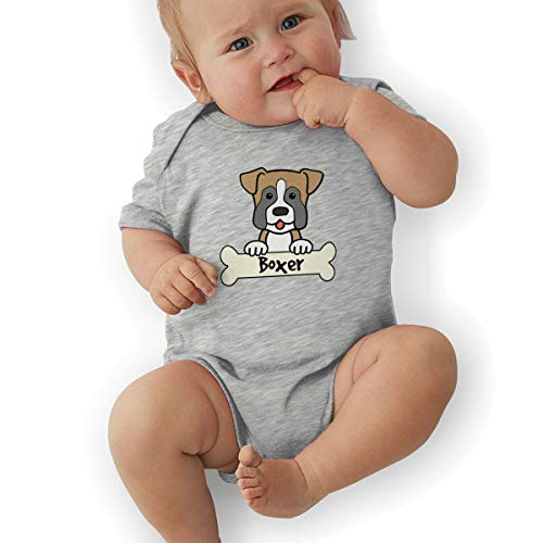 Boxer Dog Baby Boys Girls Short Sleeve Bodysuits Rompers, used for sale  Delivered anywhere in USA