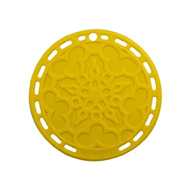 Le Creuset Silicone 8  Round French Trivet, Soleil