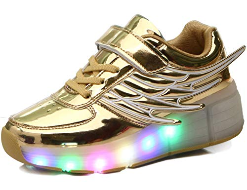TR&GA Unisex LED Light Wheels Shoes Child Single