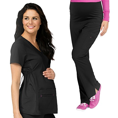 Med Couture Maternity Scrub Top & Maternity Scrub Pant Set by Med Couture