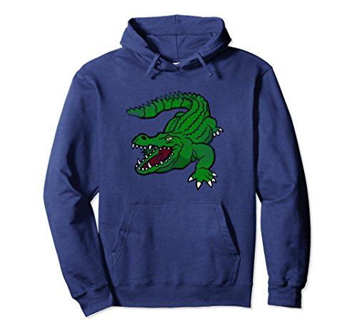 Kids Crocodile Hunter Costume (Unisex Danger Alligator Pullover Hoodie Gator Crocodile Florida Small Navy)