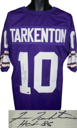 Fran Tarkenton Signed Minnesota Vikings Jersey - HOF 86