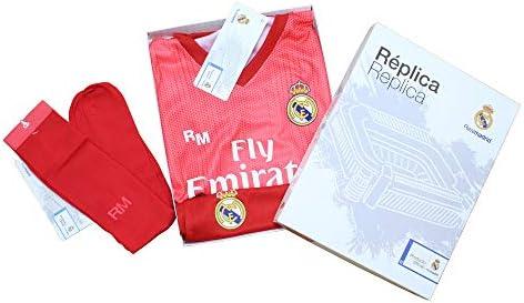 Conjunto Complet Infantil Real Madrid Réplica Oficial Licenciado de la Tercera Equipación Temporada 2018-19 Sin Dorsal (10 años): Amazon.es: Deportes y aire libre