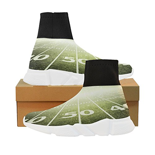 LEINTEREST Stadium Light Unicorn Stretch Sock Shoes for Women J5R00