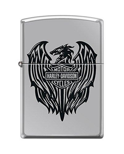 Zippo Harley-Davidson Eagle Wings High Polish Chrome Pocket Lighter