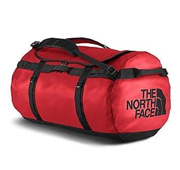 north face duffel m roja
