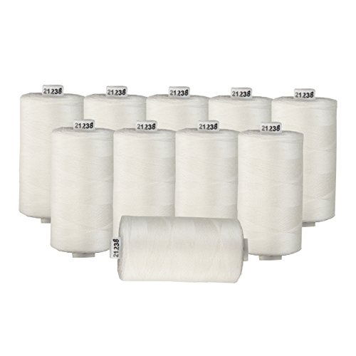 Connecting Threads 100% Cotton Thread Sets - 1200 Yard Spools (Ivory - set of 10) (Ivory Sewing Thread)
