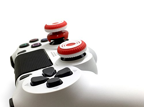 Marksman Rings White S GearZ Analog Thumb Sticks Extenders Performance Thumbsticks for PlayStation 4 Controller PS4 by GearZ