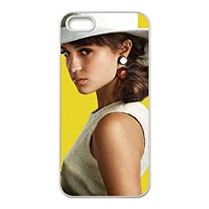 alicia vikander as gaby teller the man from uncle iPhone 5 5s Cell Phone Case White 53Go-013112