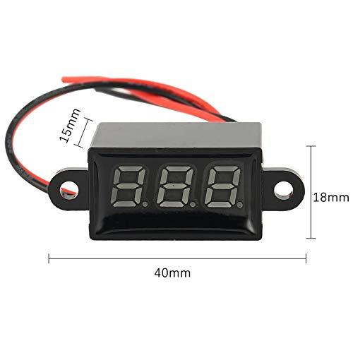 JICHUIO Display 3V-30V LED Digital pannello voltmetro tester di tensione Volt TesterWhite