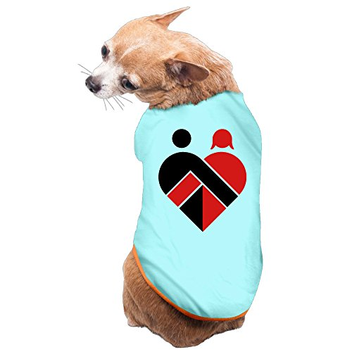 Vgd Lovers Heart Men And Women Logo SkyBlue Cool Dog T-shirt]()