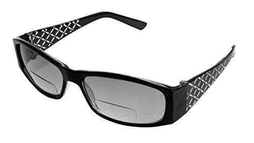 [Rodeo i3 Traveler New Style Bifocal Wrap Sun Reader Sunglasses (Smoke, 2.00)] (Women Tinted Bifocal Readers)
