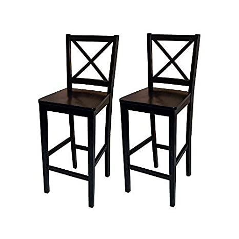 Stupendous Target Marketing Systems Set Of 2 Virginia Cross Back Stools Set Of 2 Black Alphanode Cool Chair Designs And Ideas Alphanodeonline