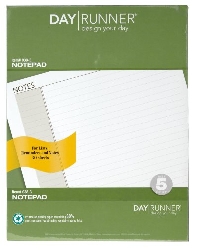 Day Runner Undated Lined Notepad Refill, 8.5 x 11 Inches (Notepad Refills Post)