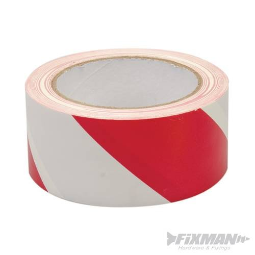 Absperr Klebeband Warnband wei/ß-rot 33m x 50mm