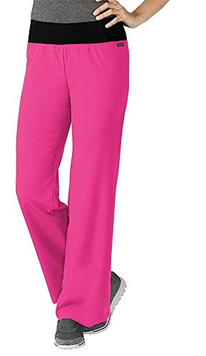 Jockey Scrubs Women's Modern Collection Perfected Yoga Scrub Pant, Berry, XX-Large by Jockey® Scrubs