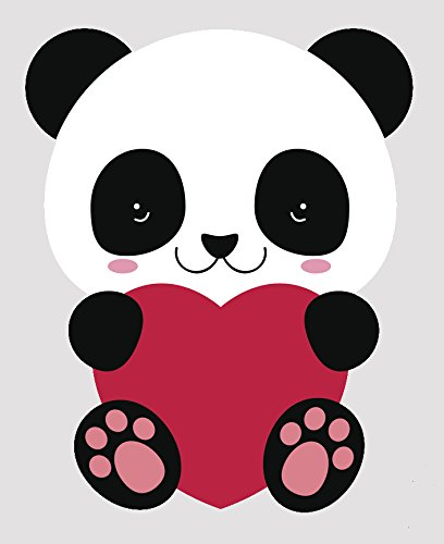 - Cute Valentine Panda Bear Cub Vinyl Decal Sticker (12