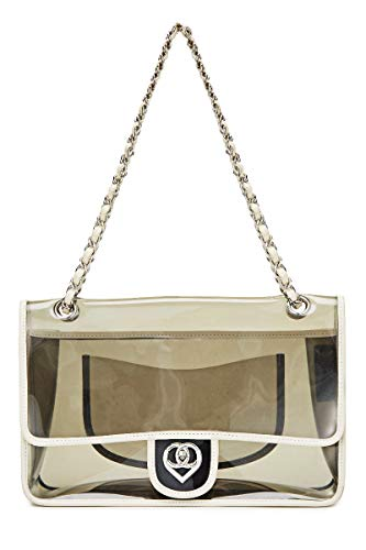 CHANEL Grey Translucent Vinyl Half Flap Jumbo (Pre-Owned)