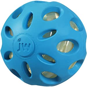 JW Pet Crackle Heads Rubber Ball Small, Asst Green, Blue, & Purple, Small Click on image for further info.