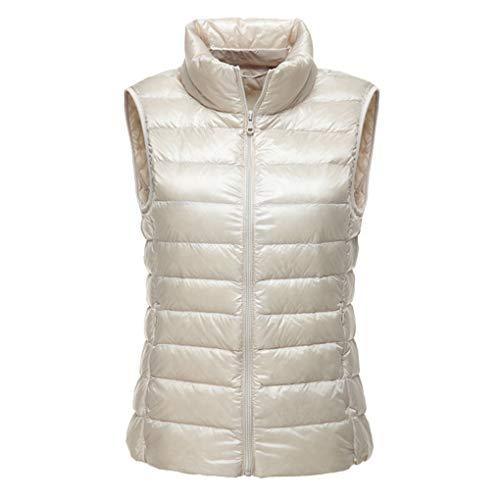 col Vest Femmes Haut Hiver l'automne Puffer Fille vers Haut lgre Packable Le Beige Bas qPAAE