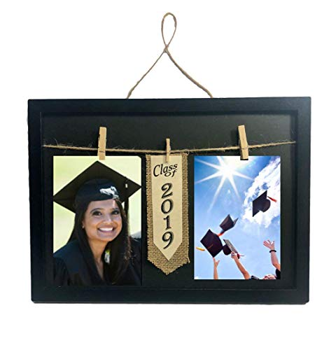 Graduation Class of 2019 Photo Clothespin Frame for Two 4 x 6 inc Collage Picture]()
