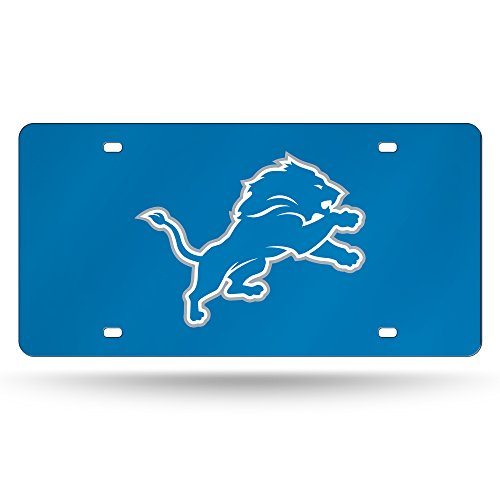 NFL Detroit Lions Laser Inlaid Metal License Plate Tag