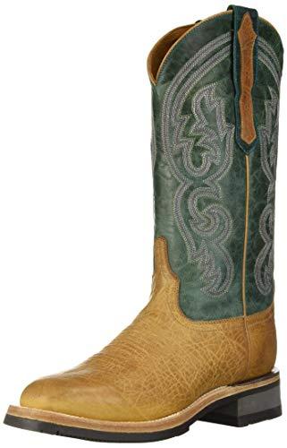 Lucchese Bootmaker Women's Ruth Western Boot Cognac/Green 8.5 B US